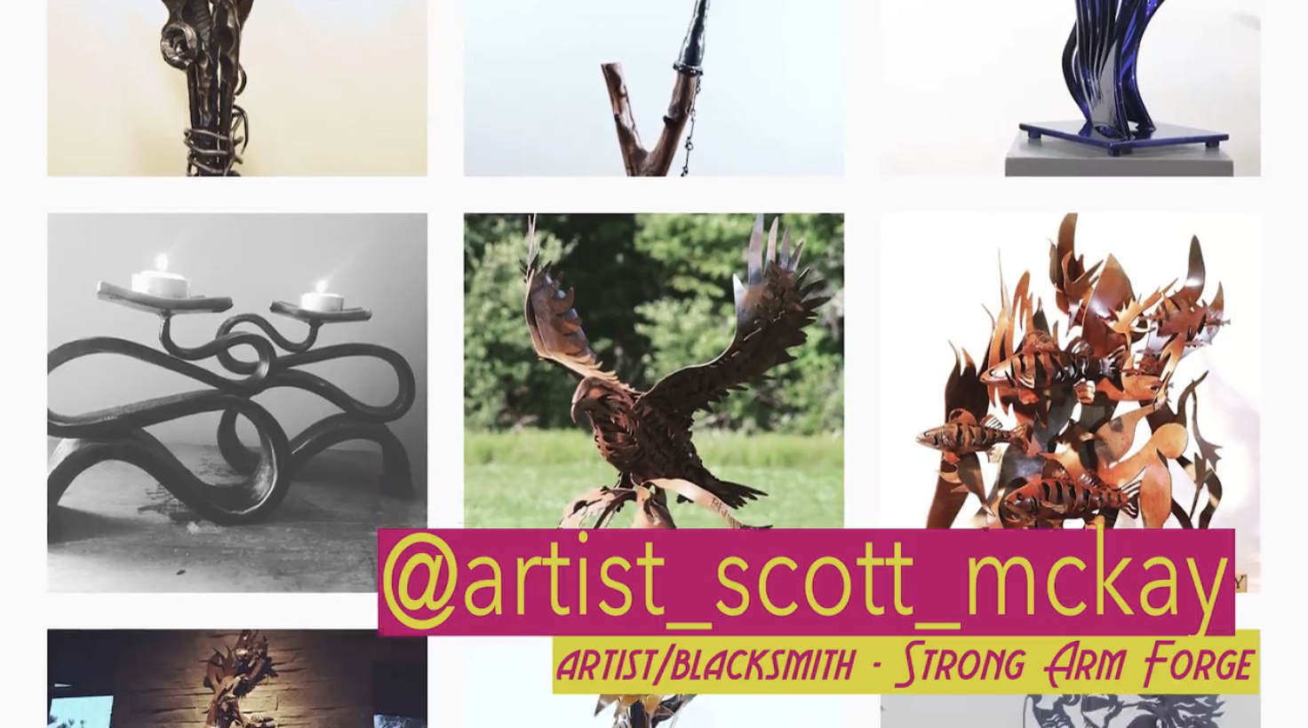 Artist/Blacksmith Scott McKay on #ARTsolation Update for Art Beat