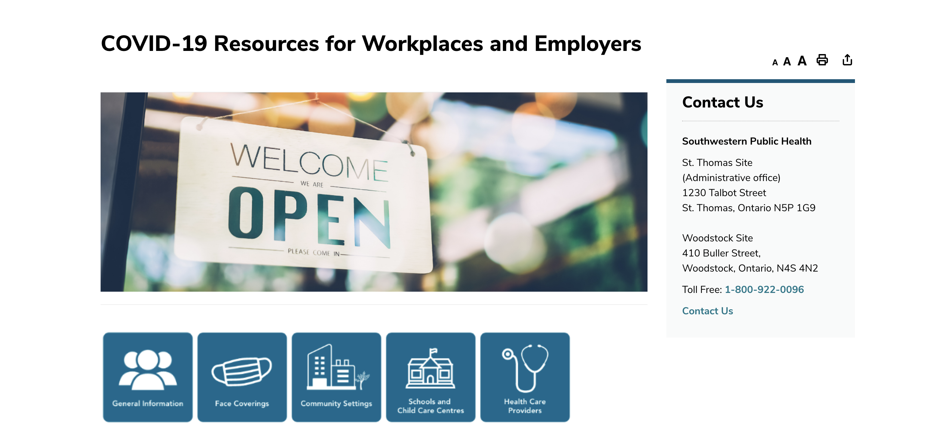 COVID-19 Resources for Workplaces and Employers from Southwestern Public Health SWPH