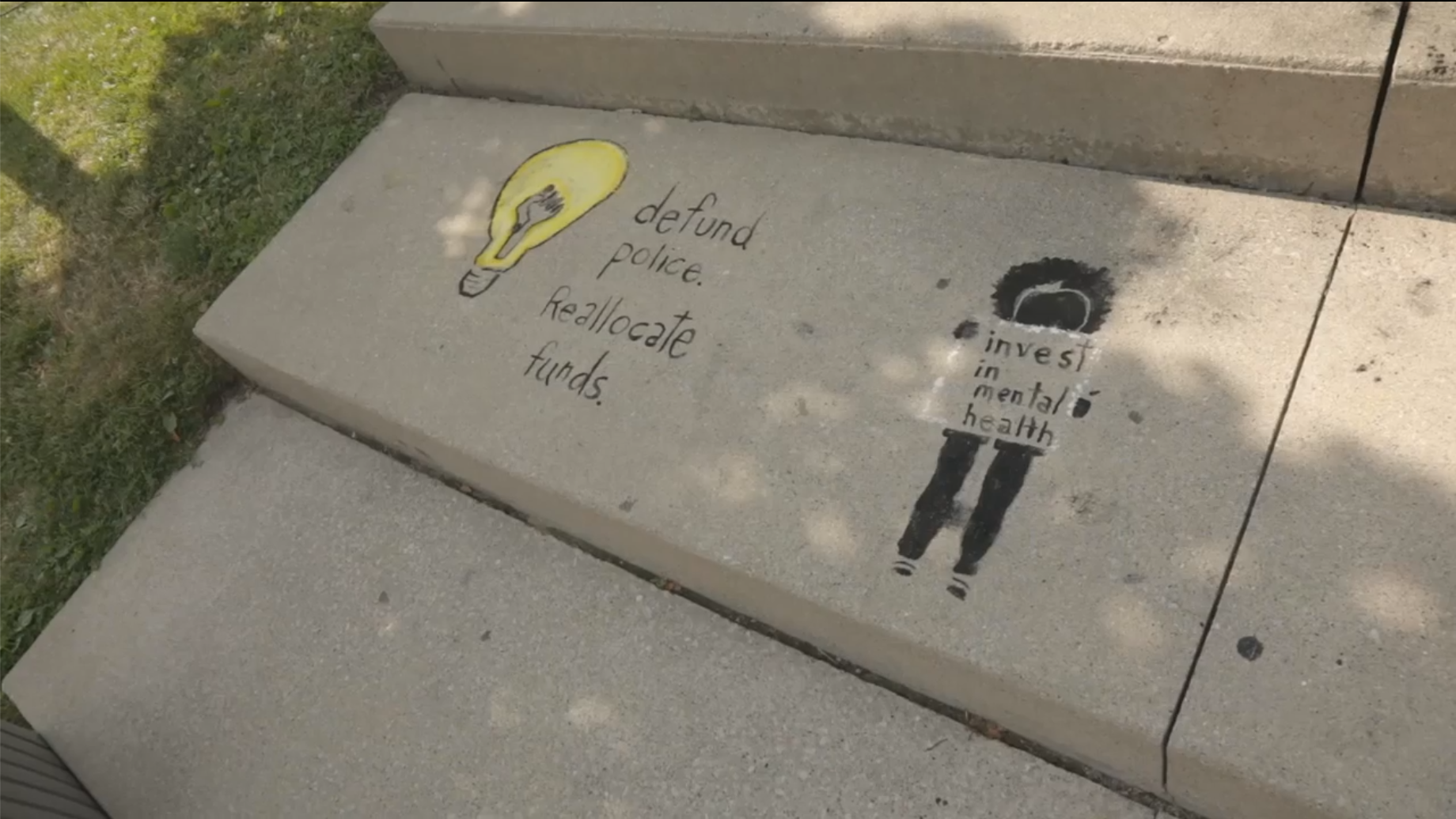 St. Thomas Chalk Artist Tattoos London City Hall because Black Lives Matter