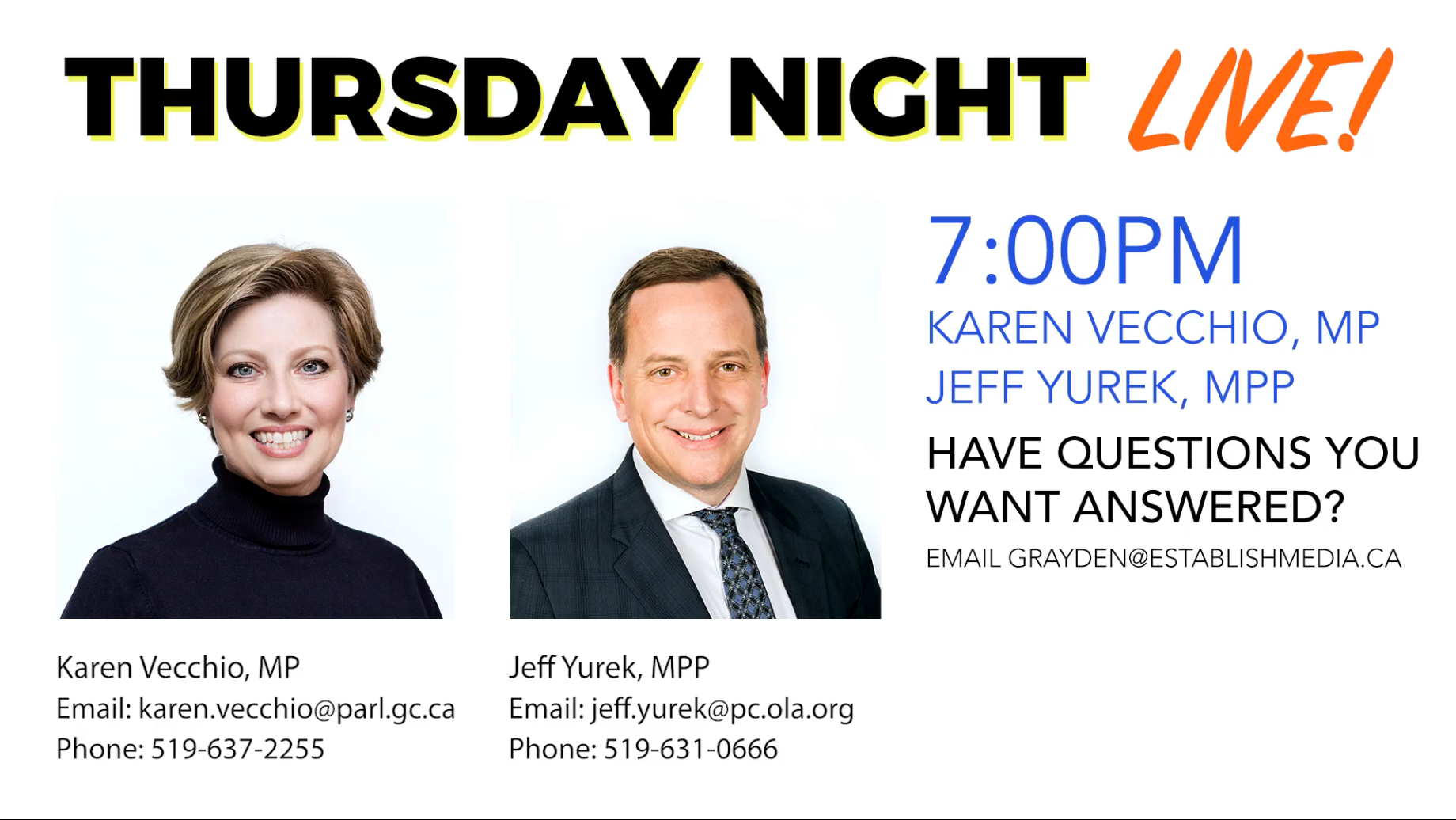 Q&A with Karen Vecchio MP and Jeff Yurek MPP – Part 2