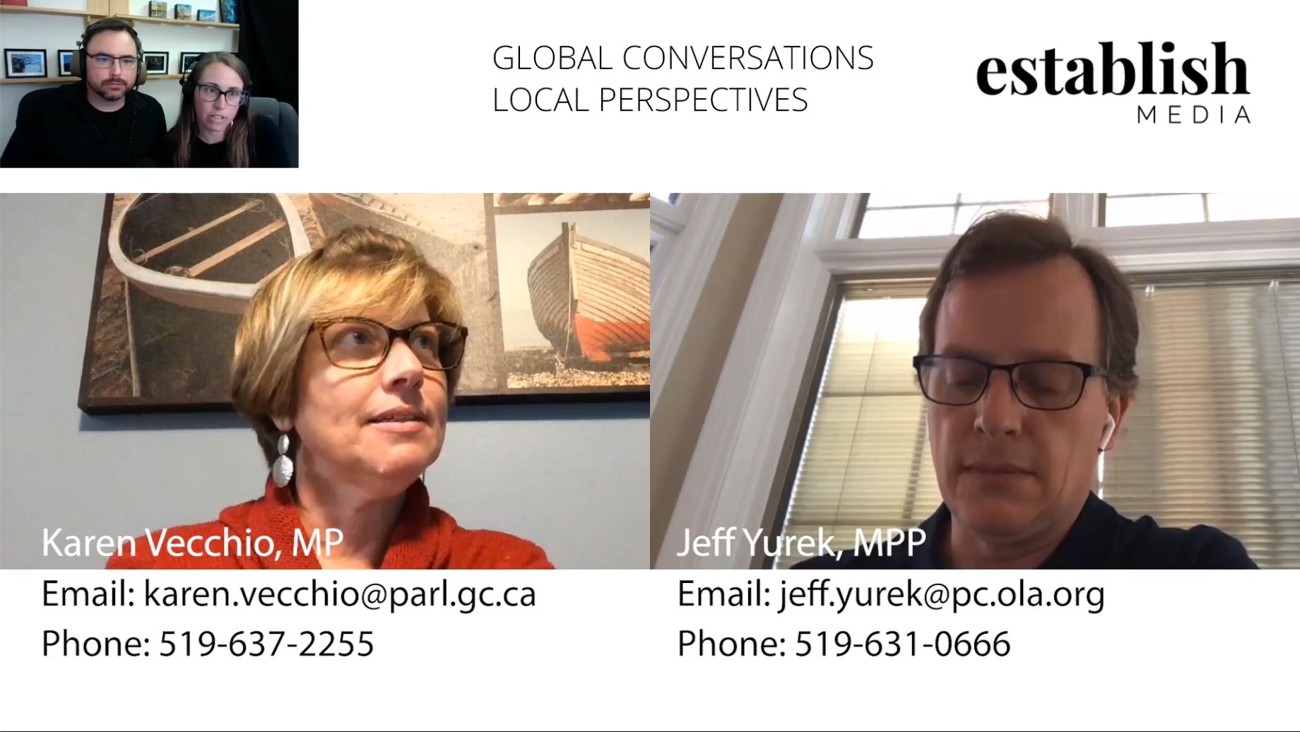 Q&A with Karen Vecchio MP and Jeff Yurek MPP – Part 1