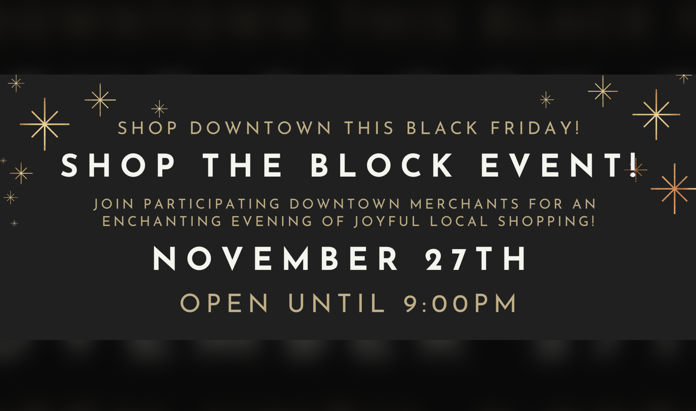 "Nov 27 – ""SHOP THE BLOCK"" in Downtown St. Thomas"